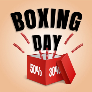 Boxing day concept background, realistic style