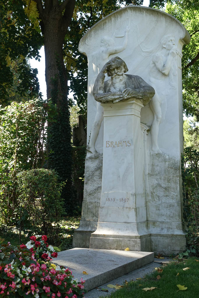 Brahms's Grave at The Zentralfriedhof