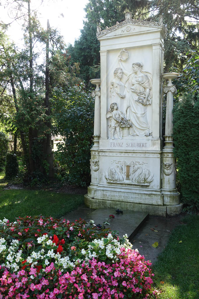 Franz Schubert's Grave at The Zentralfriedhof